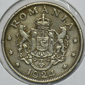 Romania 1924 2 Lei 196031 combine