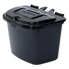 Black Kitchen Compost Caddy Bin - Food Recycling (7 Litre) 7L