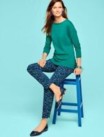 NEW $109 TALBOTS Hampshire Fit Blue,Green Cascading Blossoms Ankle Pants Sz 16W