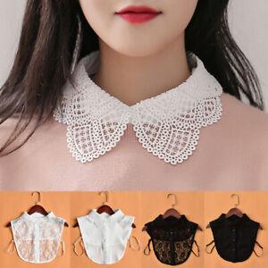 Women False Collar Fake Half Shirt Blouse Ladies Peter Pan Detachable Collars