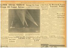UFO's Spotted above Los Angeles Unidentified Planes objects February 25 1942 B11