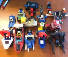 Lot Of (15) Vintage Lego Vehicles With 9 Mini Figures Used Nice Lot !