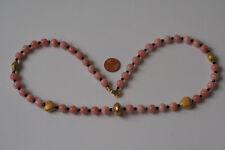 Andenopal(Rosa)+Spinell-Kette(Kugel,L=56cm) L-0005/L