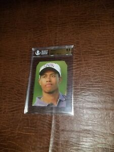 TIGER WOODS 1997 A QUESTION OF SPORT BGS   9.5 SHORT PRINT!