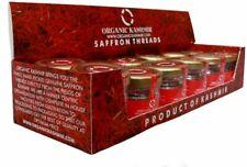 Organic Kashmir Saffron Kesar 1 Gram Each 100% Pure - Pack of 12