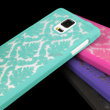 For Samsung Galaxy Note 4 Phone Case Cover Damask Vintage Pattern Rubberized