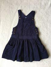 ***M&S girls Navy cord pinafore dress 4-5 years VGC***
