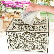 Rustic Wedding Greeting Card Box Birthday Party Decoration Supply Gift Money Box
