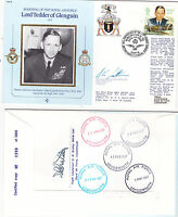 """1986 R.A.F.  COVER.SIGNED BY """"  GROUP CAPTAIN ."""""""
