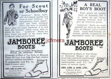 2 x Very Small 1920s 'JAMBOREE BOOTS' Boys' Shoes ADS #2 - Original Print Advert