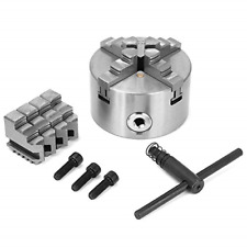 4inch 100mm 4 Jaw Self-Centering Lathe Chuck Set with Extra Jaws Turning Machine