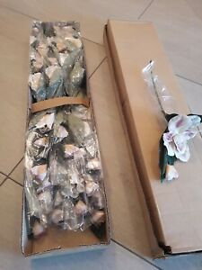 Restposten  Deko ,Magnolien 15 Steile  ca 40 cm weiß Rosa
