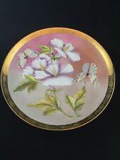 Vintage Hand Painted F. Portenier Decorative Plate Gold Trim
