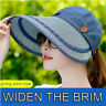 Women Ladies UV Protection Sun Visor Hat Large Wide Brim Adjustable Beach Cap