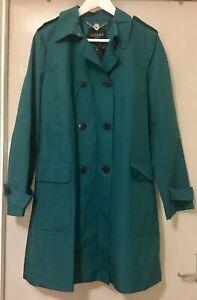 Hobbs London Jean Mac Trench Coat in Ocean UK Size 12