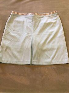 Greg Norman Golf Women's Single Pleat Skort, Size 10 aqua Green NWT side zip