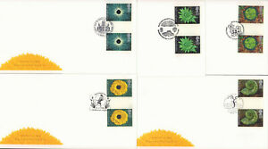 (67084) GB FDC x5 GUTTER PAIRS Springtime 1995