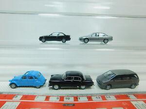 BO938-0,5 #5x Herpa H0 / 1:87 Car: Opel Omega + BMW + Wolga + Citroen,Very Good