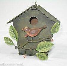 Birdhouse Holly & Berries on Front Usable Both Indoors & Outdoors PA3116 New