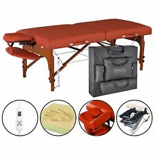 """Master 31"""" Santana Portable Folding Massage Table Pro Package- Red"""