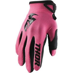 Thor Sector Womens Gloves (Small, Pink)