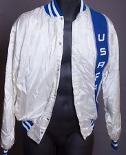 Vintage USAFA US Air Force Academy Track Jacket Mens M Blue and White Super Hot