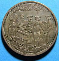 USA 1860's R Lovett JR Historical  Penn's treaty Medal (094)