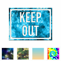 Keep Out Business Sign - Decal Sticker - Multiple Patterns & Sizes - ebn4021