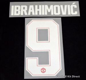 Manchester United Ibrahimovic 9 Football Shirt Name/Number champions league Home