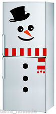 Snowman Fridge Sticker Decoration Fridge Window Christmas Novelty Funny Xmas