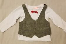 Little Maven 12 mth Boy Bow Tie Suit Formal Party Christening Wedding Tuxedo Top