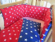 Cushi Culle per bambini altalena culla paraurti e Set Piumone Bianco All Stars rosso e blu NUOVO