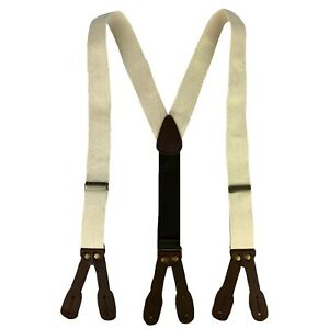 Canvas Old West Y-Back Button End Suspenders in Multiple colors and Sizes