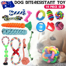 15 Pack Dog Toy Pet Puppy Play Chew Braided Cotton Rope Frisbee Bundle Job lot
