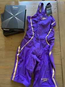 Speedo Fastskin LZR Racer X Closedback Kneeskin 27L Purple With Gold Accents