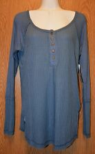 Womens Pretty Blue Striped French Laundry Long Sleeve Shirt Size Medium NWT NEW
