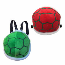 2pcs Super Mario Bros Koopa Troopa Turtle Shell Plush Backpack Bag Blue and Red