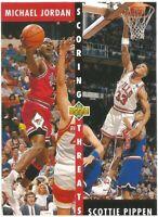 Michael Jordan Scottie Pippen Upper Deck 1992/93 NBA Basketball Card #62