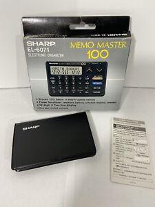 SHARP EL-6071 MEMO MASTER 100 ELECTRONIC ORGANIZER VINTAGE RETRO FREE SHIPPING