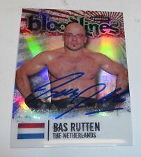 Bas Rutten Signed UFC 2012 Topps Finest Bloodlines Card #BL-BR 18 20 Autograph