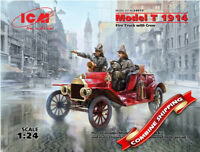 ICM 24017 Model T 1914 Fire Truck with Crew, American Car plastic model kit 1/24