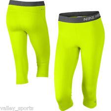 NEW! Volt/Ash [S] NIKE PRO Women's Capri Tights Pants DRI-FIT Fitness Small