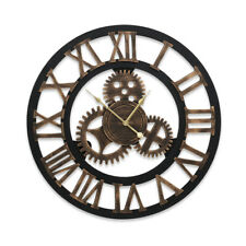Wall Clock Extra Large Vintage Silent No Ticking Movements 3d Home Decor 80cm