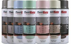 PlastiKote Chalk Spray Paint, Available in 11 Flat Matt Colours Furniture Paint