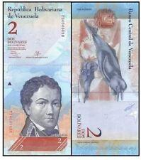 Venezuela 2 Bolivares 29/10/2013 (Gem UNC) 委内瑞拉 2玻利瓦尔 (弗朗西斯科·德·米兰达元帅) T89267028