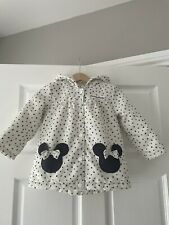 Disney Baby At George Minnie Mouse Jacket Age12-18 Months With Fleece Lining