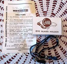Vintage Seron Glass Guard Eye Glass Holder 1965 Sports Work Play Box Instruction