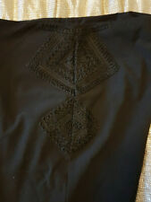 Skinny Black Cigarette Trousers sz 12 L OASIS Braidwork / Matador/ Tuxedo Style