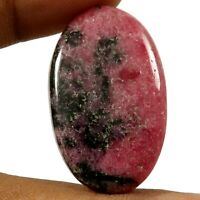 Rhodonite Gemstone For Making Jewelry 48X26X4 mm Natural Rhodonite Oval Shape Cabochon 67Ct Loose Gemstone Gem For Pendent