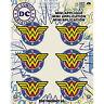 Dc Comics Wonder Woman Shield Logo Super Hero Iron on Embroidered Patch Set